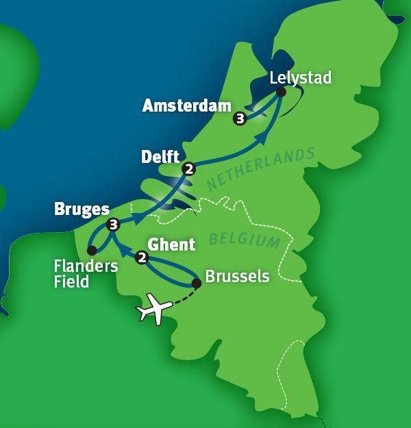 belgium holland tour map 14