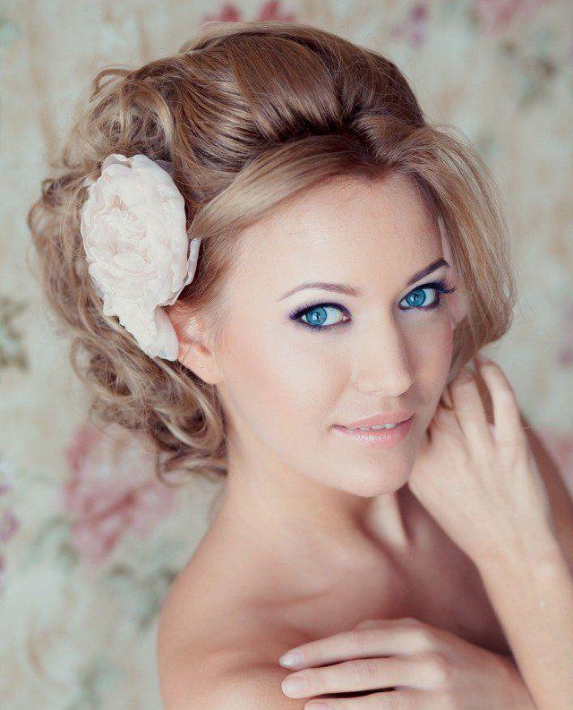 Maquillage mariée naturel, 60 photos inspirantes et conseils! Maquillage  Mariée NaturelYeux BleusCoiffures