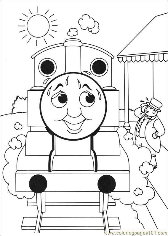 Thomas And Friends Coloring | Kifestő - Thomas és barátai | Pinterest