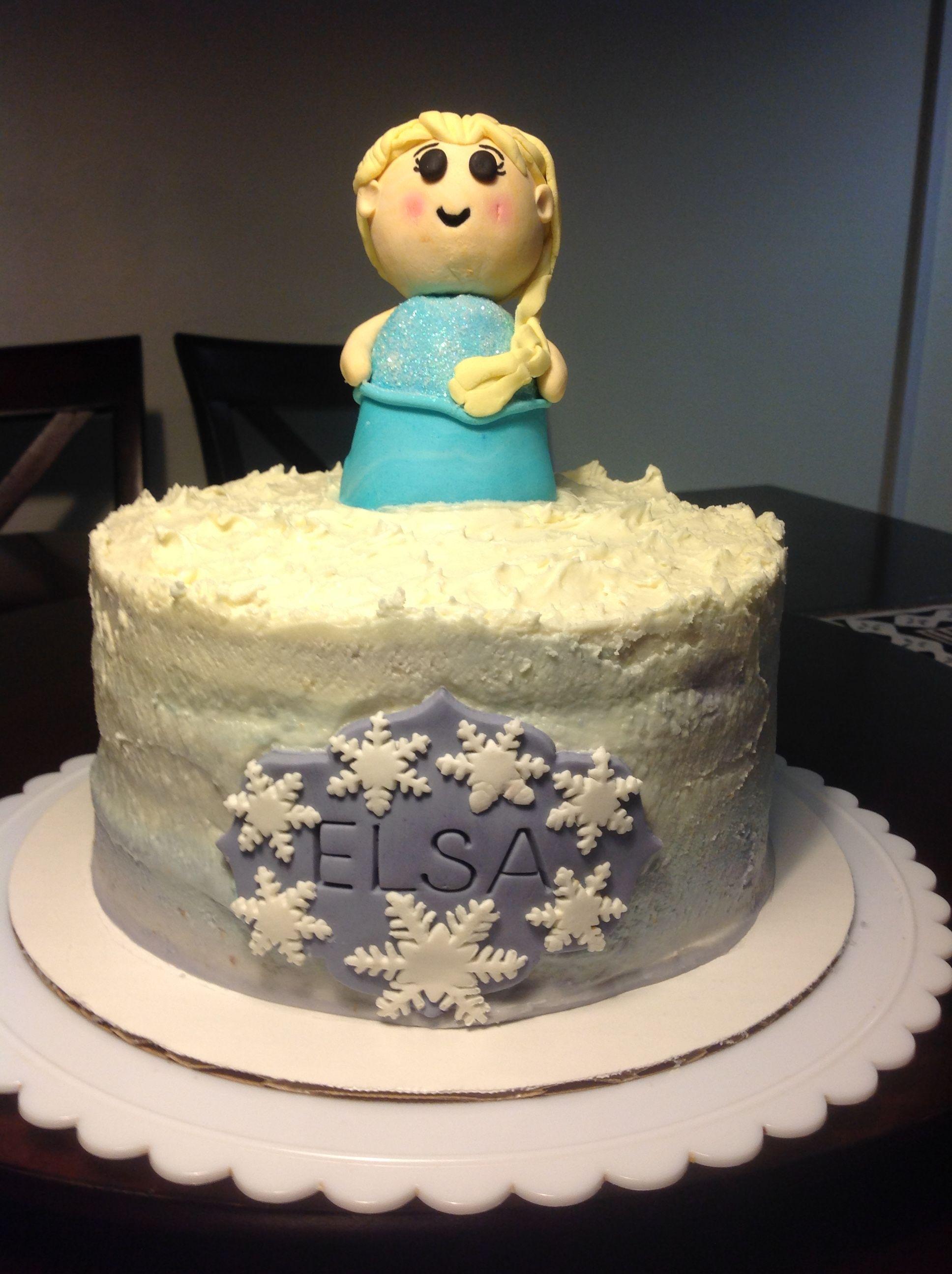Elsa cake for a little girl named elsa how very