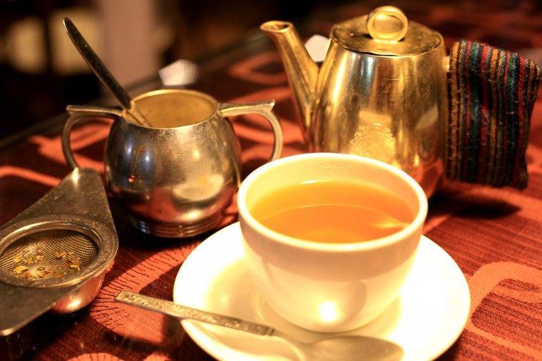 Tea served at Glenarys Restaurant, Darjeeling. Ahh must
