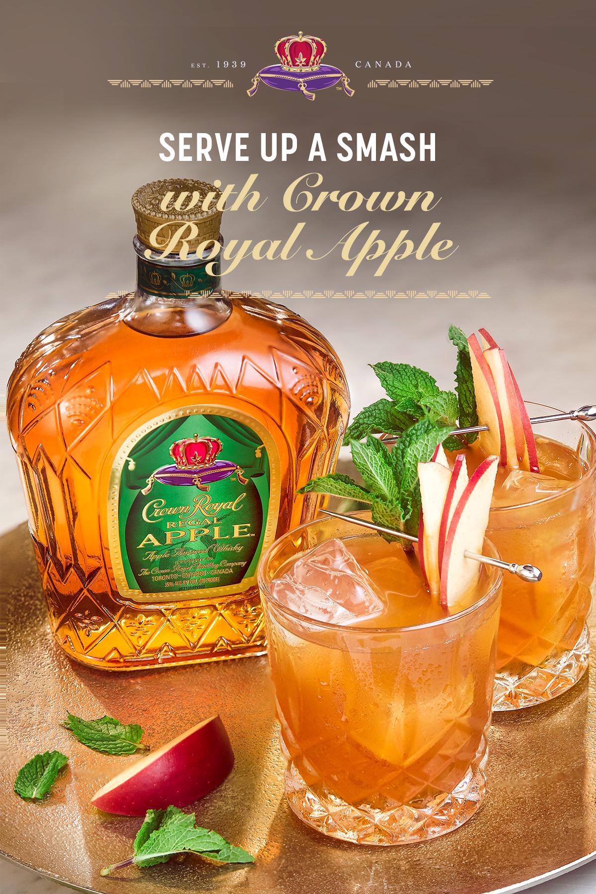 Crown Royal Cinnamon Apple Apple Drinks Recipes Apple Drinks Whisky Cocktails
