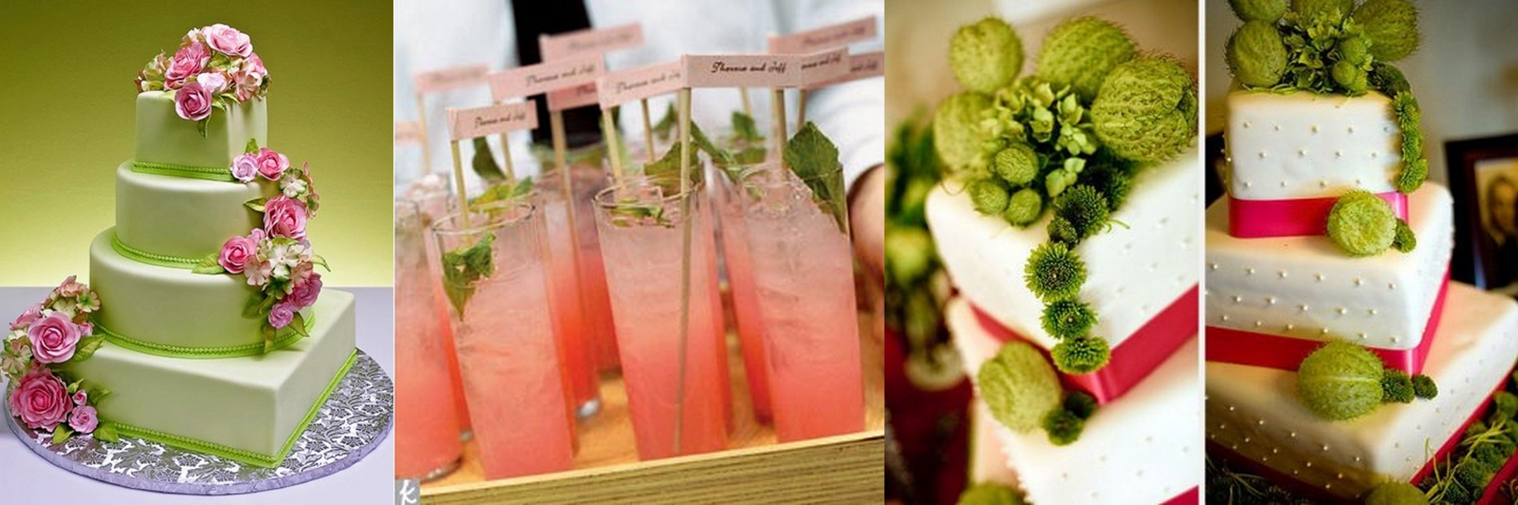 Pink Lime And White Wedding
