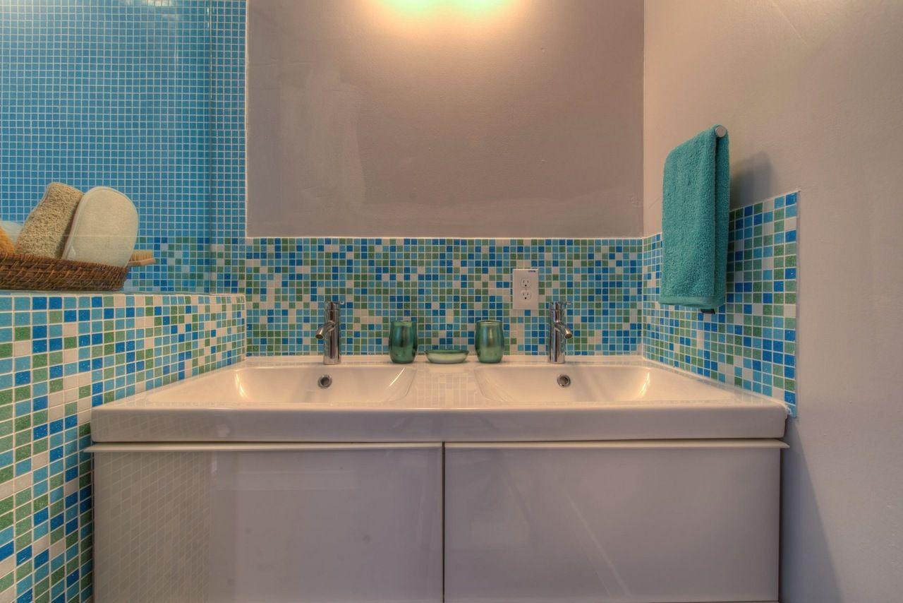 Mineral Tiles - Classic Glass Mosaic Tile Blue Blend, $6.50 (http ...