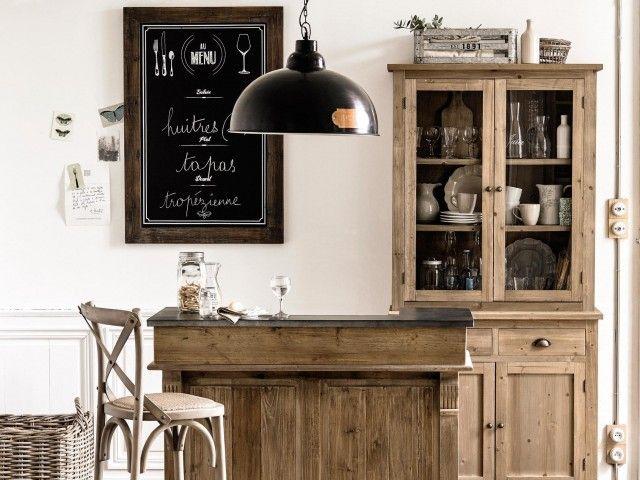 Deco Bistrot Dans La Cuisine Joli Place Vaisselier Maison Du Monde Meuble Bar Vaisselier