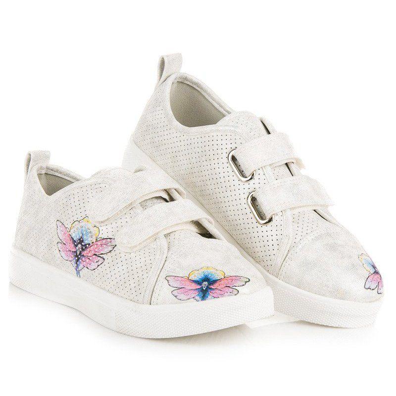 Buty Sportowe Dzieciece Dla Dzieci Vinceza Biale Trampki Na Rzepy Vinceza Vinceza Keds Sneakers Shoes