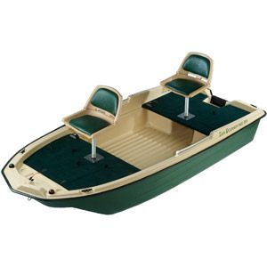 Sun Dolphin Pro 120 2 Man Fishing Boat Padded Swivel Seats