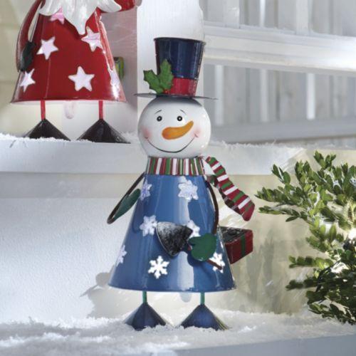 Solar Snowman Bobble Light From Through The Country Door Navidad