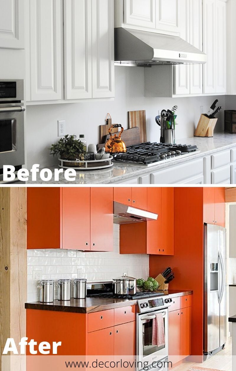 White Kitchen To Orange Kitchen Cabinets Color Ideas For Your Kitchen In 2020 Kitchen Cabinets Spacious Kitchens Cabinet Colors