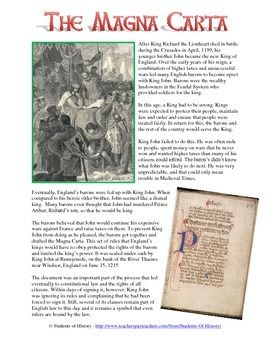 """an historical essay on the magna carta of king john Most sources state that king john """"granted"""" the magna charta, thereby  suggesting  richard thomson: an historical essay on the magna charta of  king john,."""
