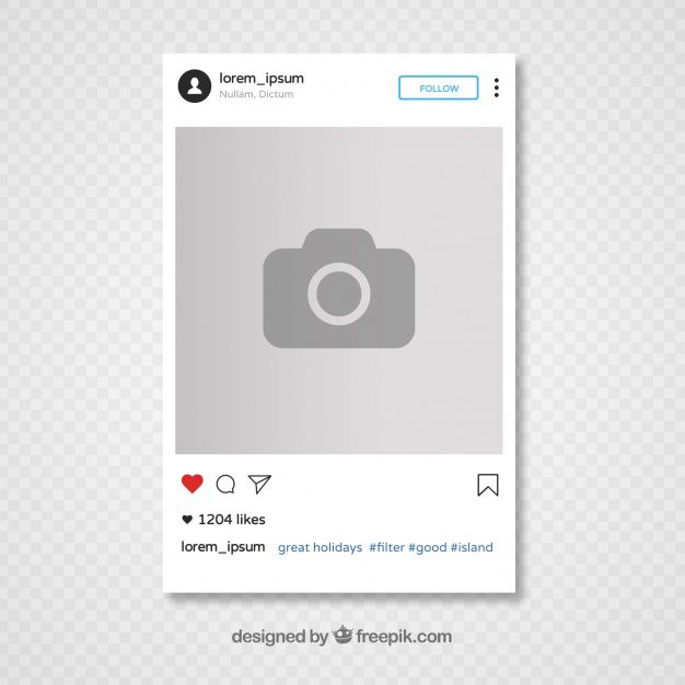 Download Instagram Template Design For Free In 2020