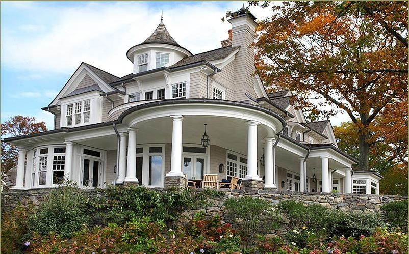 20 Homes With Beautiful WrapAround Porches Traditional