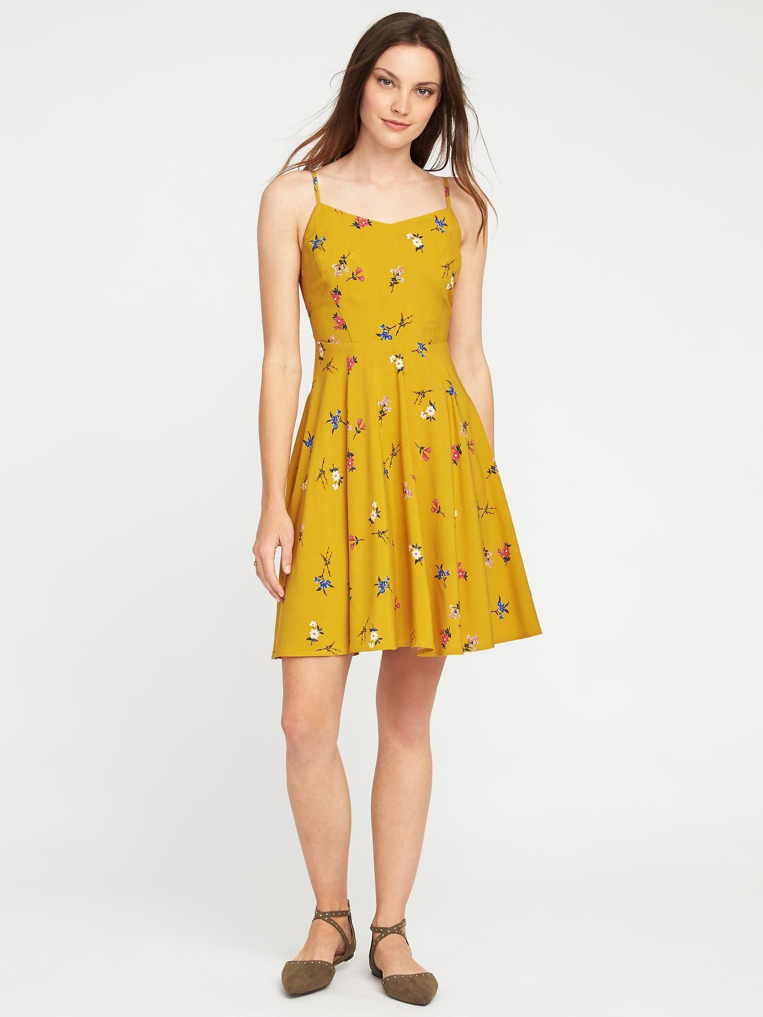 Fit Amp Flare Cami Dress For Women Old Navy Fashion