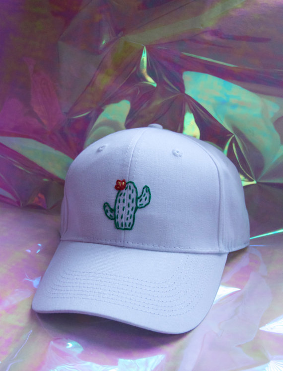 7aeca87775f Embroidered Cactus Baseball Cap