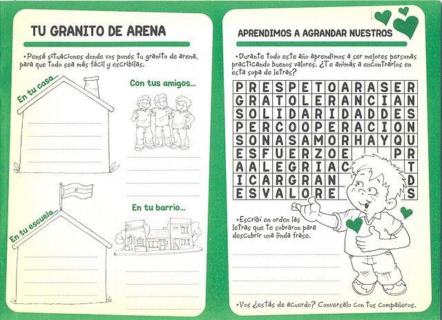 actividades de valores para niños para imprimir - Buscar con Google