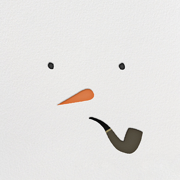 Mr. Snowman by Paperless Post. Customizable and available with individual recipient addressing. View more holiday cards on paperlesspost.com. #pipe #snow #snowman #snowman_and_pipe #winter