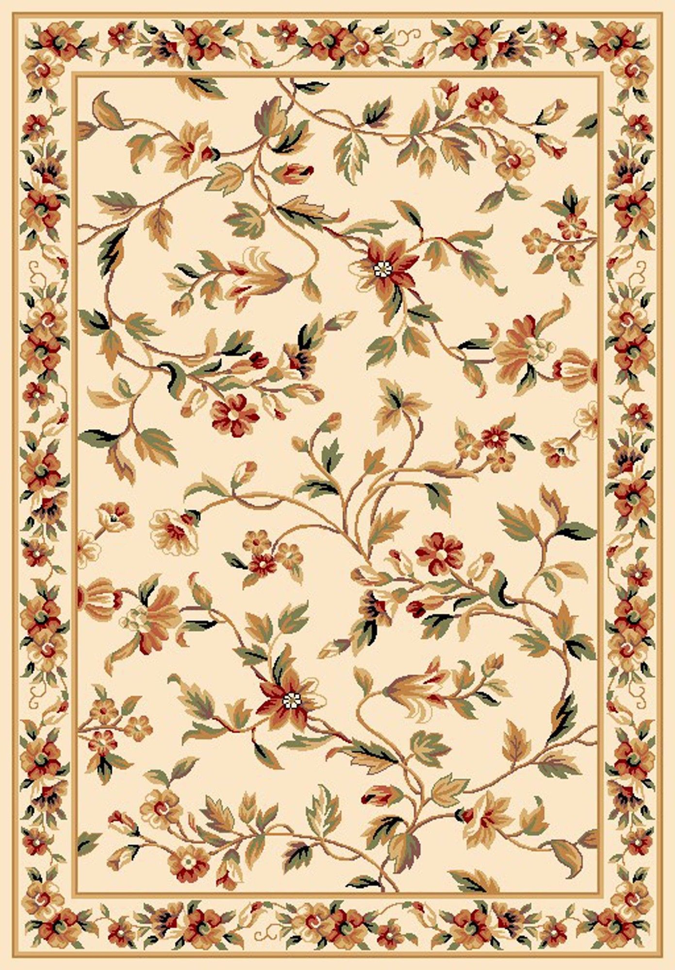 Kas Cambridge Ivory Floral Rug Floral Area Rugs Area