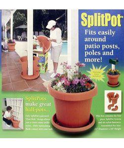 Planter Garden And Patio Split Pot Overstock Com Shopping Great