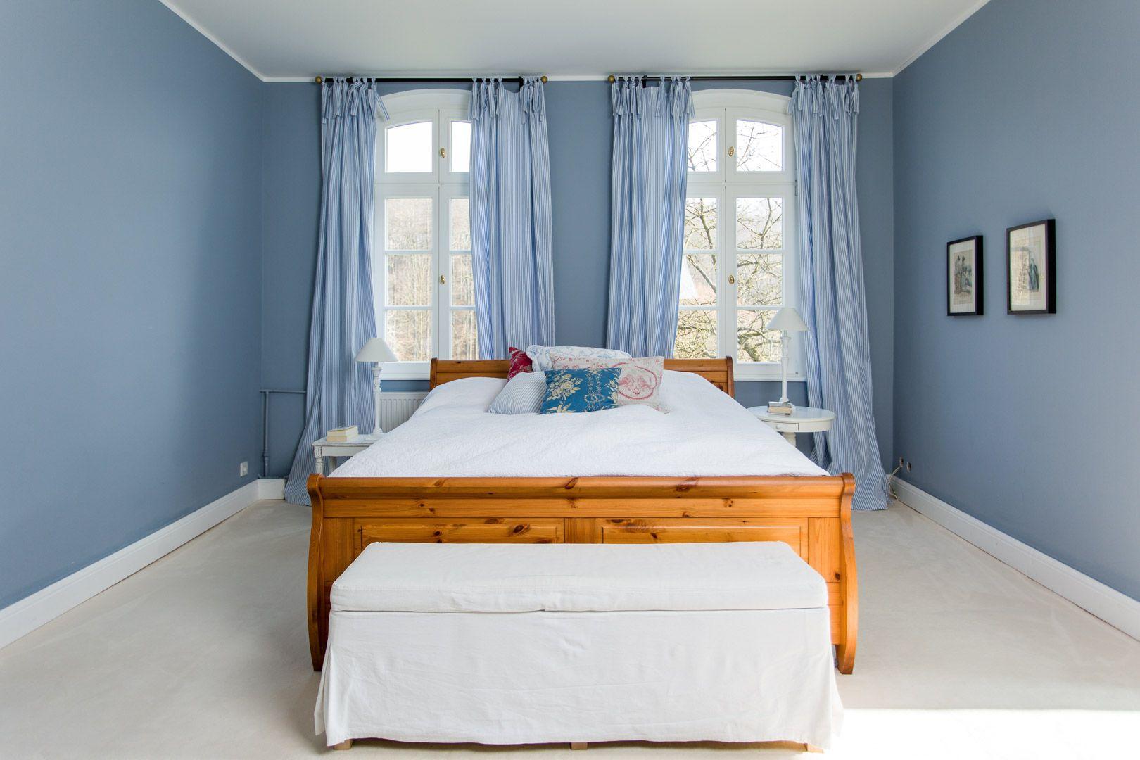 Ein Traum In Blau... Blaue WandfarbenWirkenEinrichtung.