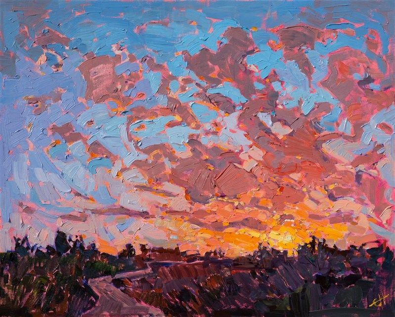 Contemporary Impressionism Oil Painting For Sale By The Artist Erin Hanson Fine Art Prints Artists Oil Painting Landscape Contemporary Impressionism
