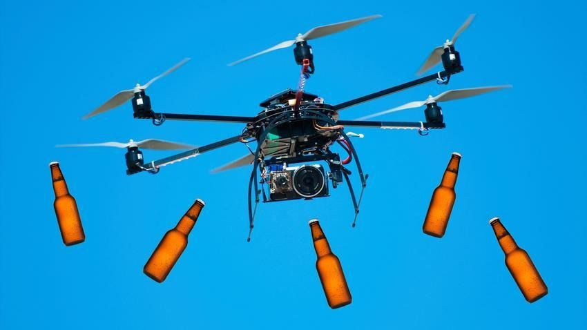 Beer drones to deliver brew to concertgoers - yay :)