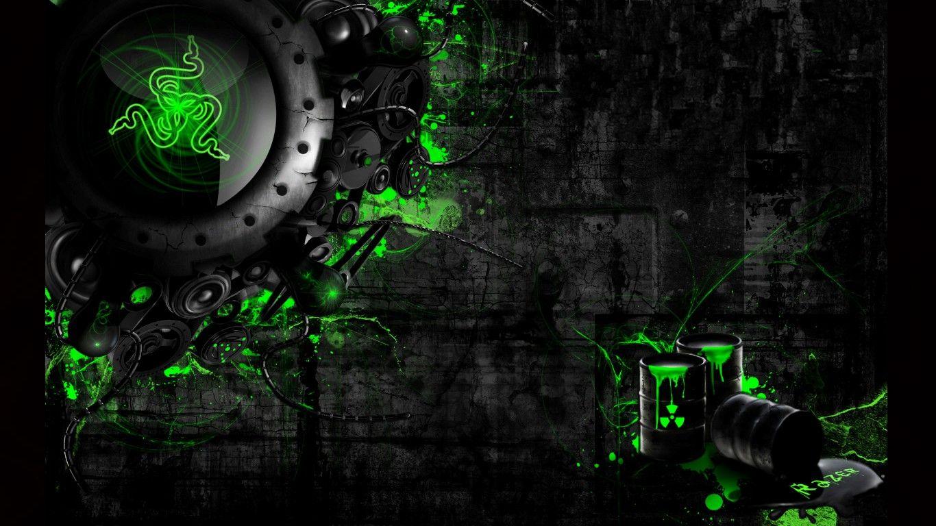 Razer Gaming Wallpaper Neon Wallpaper Hd Wallpaper Green Wallpaper