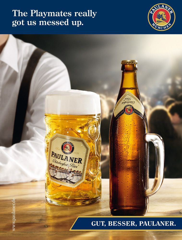0b647a548137d Paulaner beer: Playboy.   Paulaner l Ignaccolo & Co. Estudio de ...