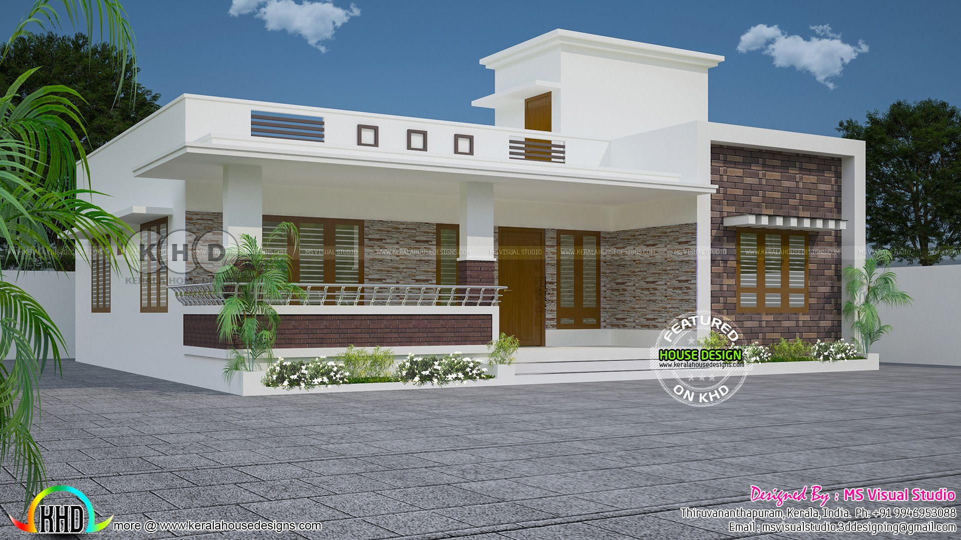 Single Floor Home Jpg 1920 1080 Small House Elevation Design Kerala House Design Unique House Design