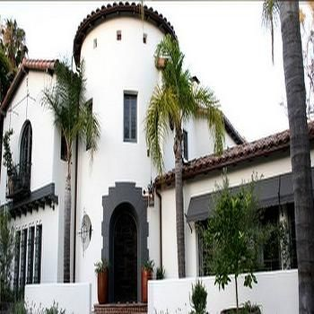 Nottingham house spanish style home mediterranean home for Spanish colonial exterior paint colors