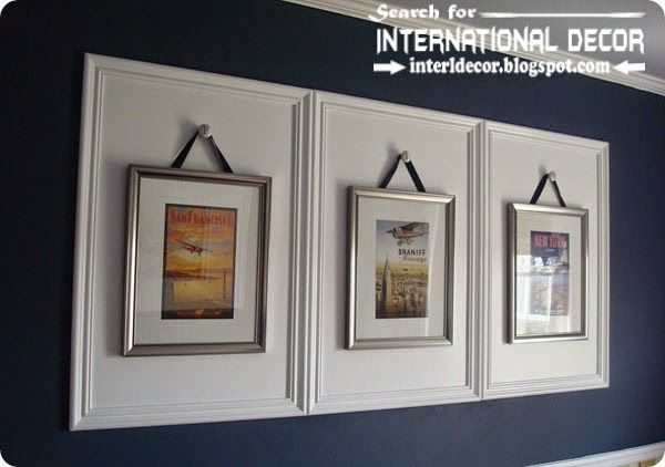 Decorative wall molding designs ideas and panels, framed ...
