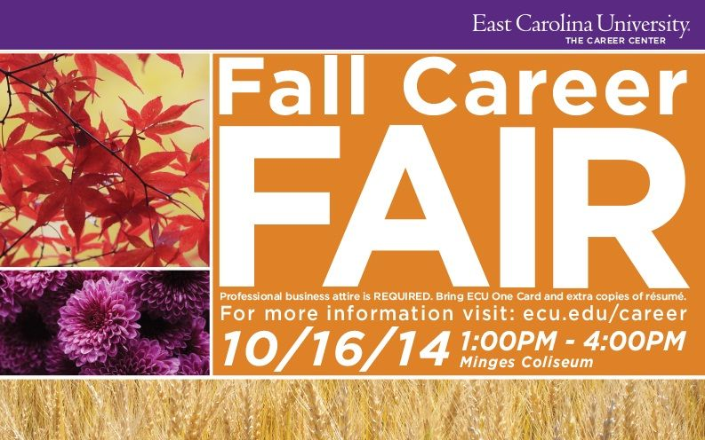 Over 100 employers will be at Minges recruiting ECU students for internship and job opportunities.