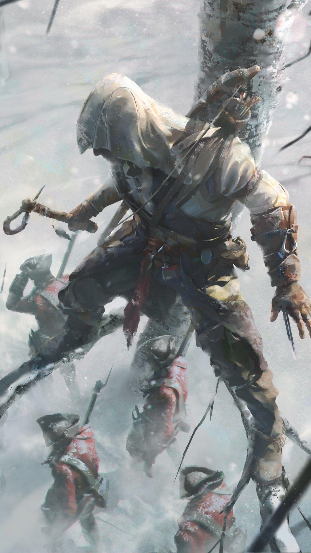 Assassins Creed 3 Key Art 8k Mobile Wall Wallpapers Assassins Creed Artwork Assassins Creed Game Assassins Creed