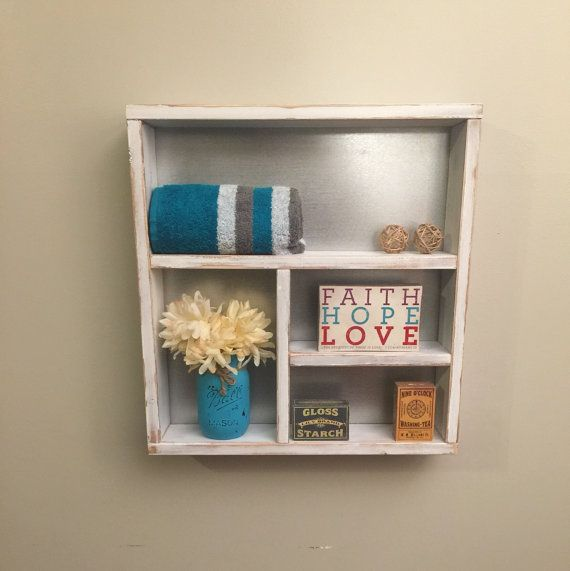 Rustic bathroom shelf wooden shelves rustic by countrycornergoods