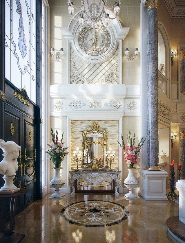 Luxury villa in qatar classic home decor with woma statue design inspiring timeless home - Decoration des villas ...