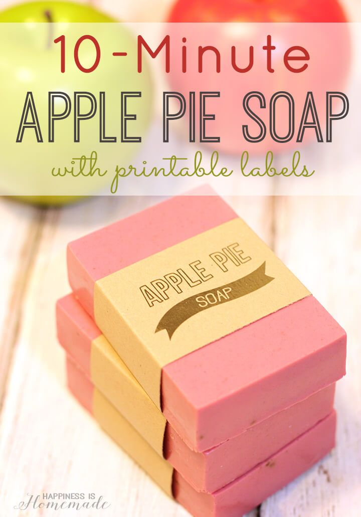 Make your own DIY apple pie soap in 10 minutes! It smells