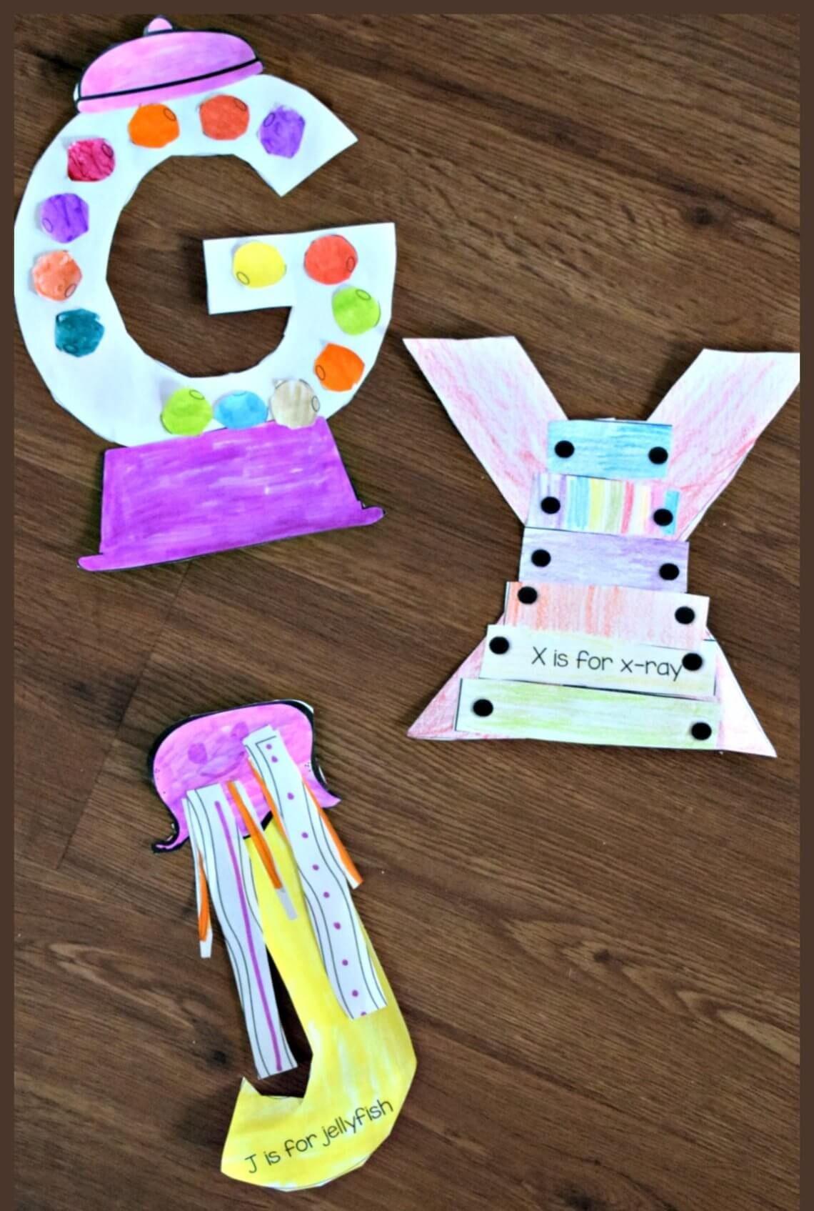 Printable Letter Crafts For Preschoolers