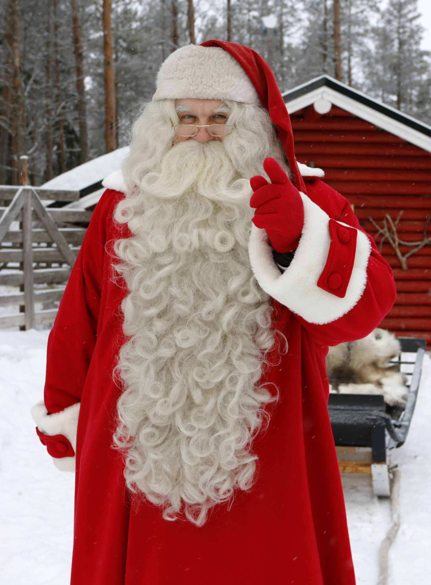 Have you been nice or naughty Santa Claus in Lapland is