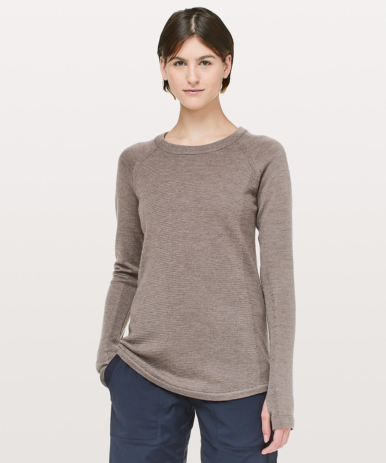 a37eaf5450fe heathered cool cocoa | Lululemon | Sweaters, Sweaters for women ...