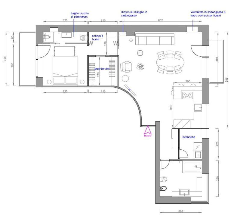 Stato di progetto planimetria casa ecc nel 2019 for Idee planimetria casa