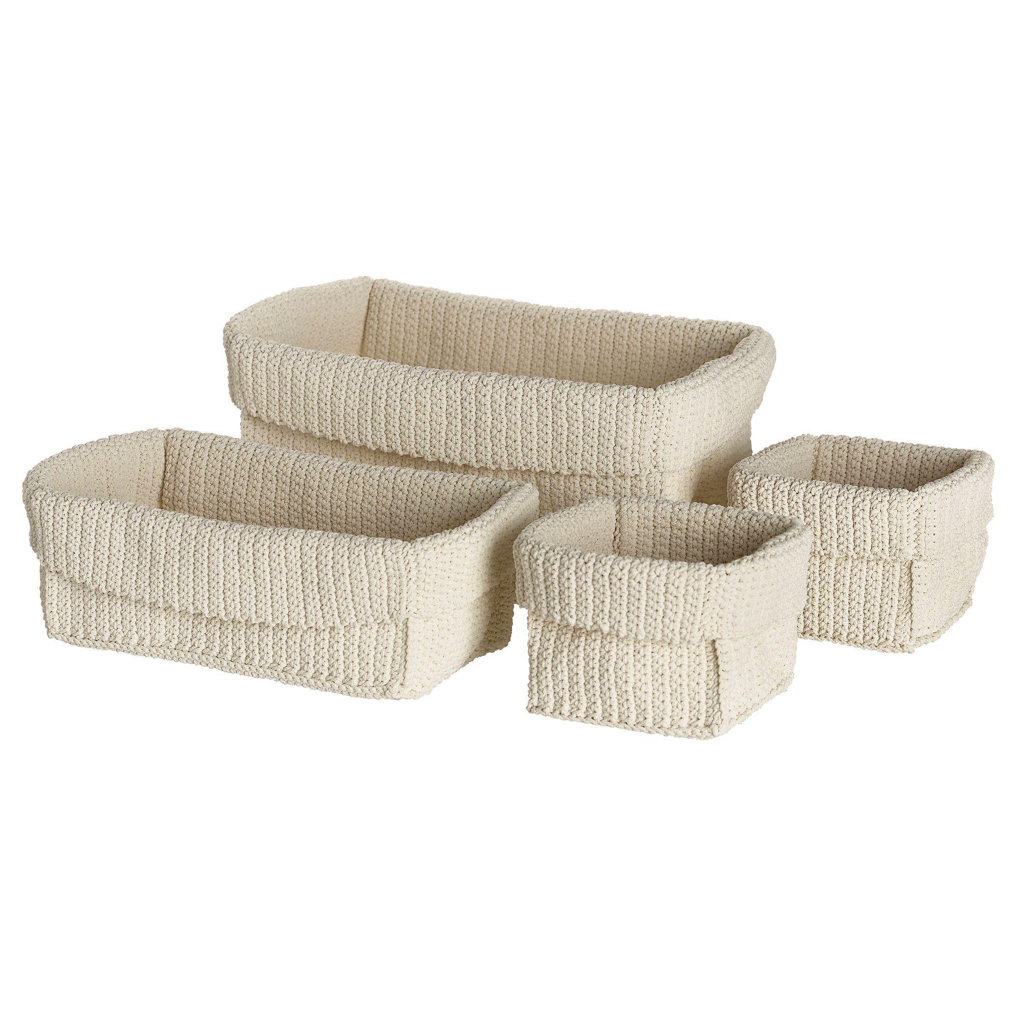 lidan basket set of 4 ikea bathroom storage 15 lost. Black Bedroom Furniture Sets. Home Design Ideas