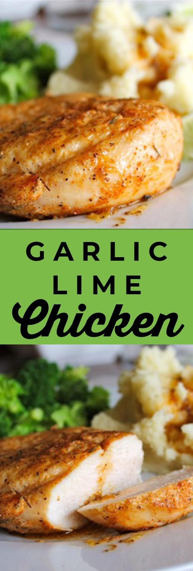 Garlic Lime Chicken from The Food Charlatan.