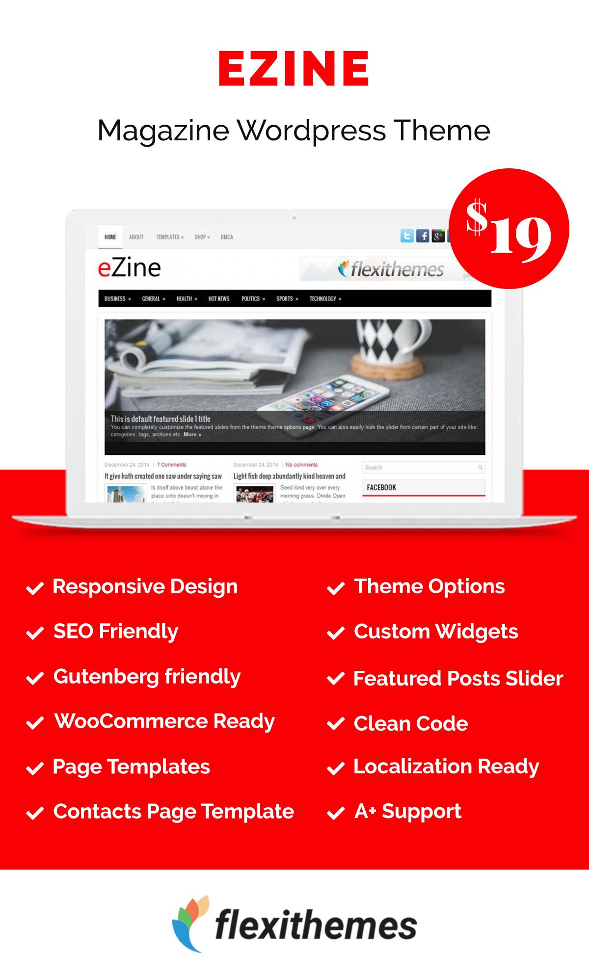 Ezine Wordpress Theme Wordpress Template Page Template