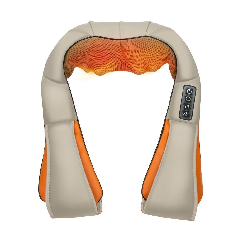 Home car electrical infrared d back massager u shape shiatsu back