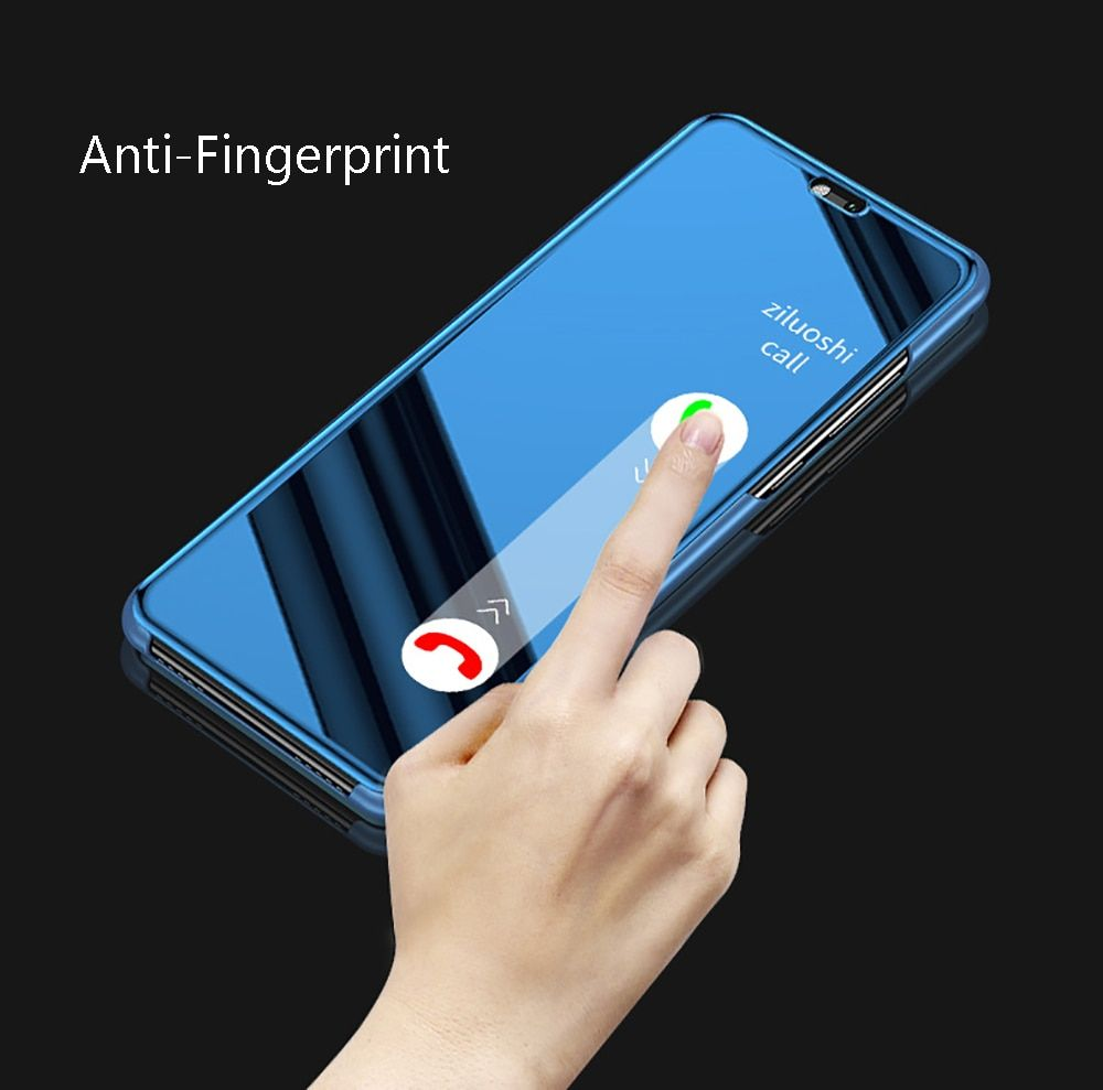 Clear View Smart Mirror Phone Samsung Galaxy S9 S8 S7 S6 Edge Plus For Note 9 8 5 4 3 For A3 A5 A7 J3 J5 J7 Cover Samsung Galaxy S9 Samsung Galaxy Galaxy
