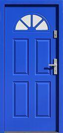 Classic wooden exterior door model with glass pattern 506, …