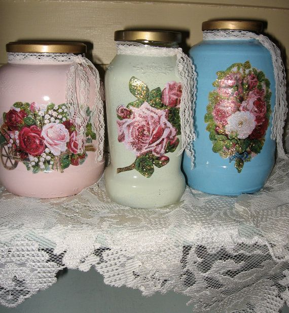 Hand painted Vintage inspired Repurposed Upcycled by Fannypippin,