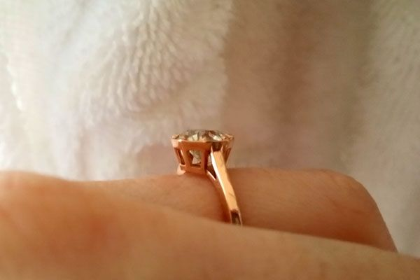 My OEC in a custom rose gold setting from OWD : Show Me the Bling! (Rings,Earrings,Jewelry) • Diamond Jewelry Forum - Compare Diamond Prices, Discussions & Diamond Information