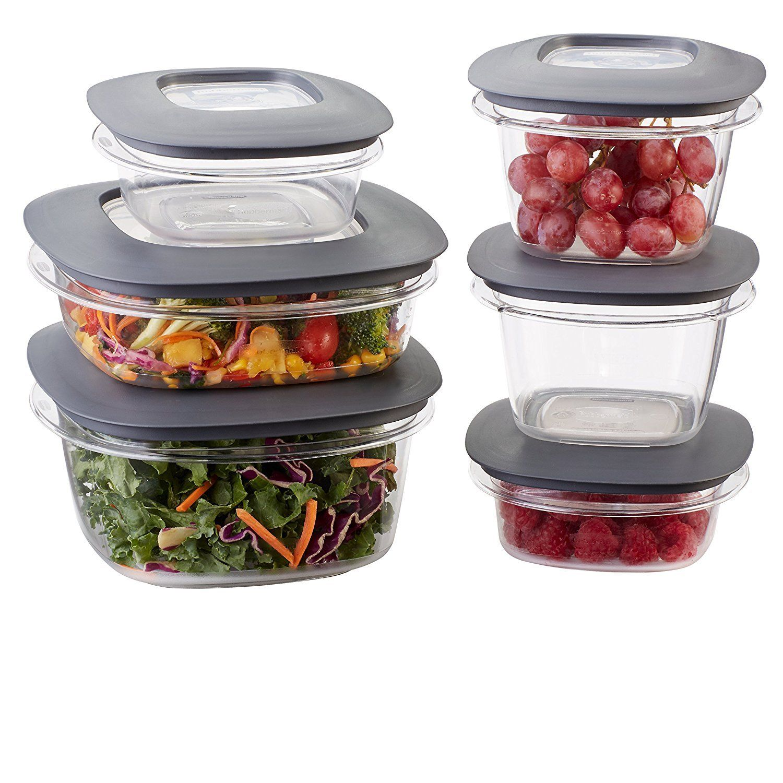 GO GO GO Rubbermaid Premier Food Storage Containers 12 Piece Set