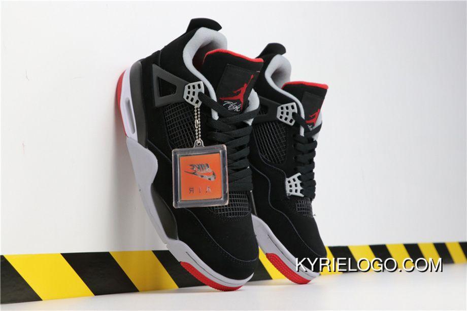 the latest b1f0a 1832a Air Jordan 4 Retro OG BRED Aj4 308497-060 Black Cement Grey-Summit