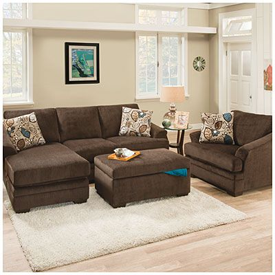 Big Lots 550 Sunflower Brown Sofa With Reversible Chaise